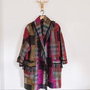 Vintage Woven Fringe Coat Size L/XL